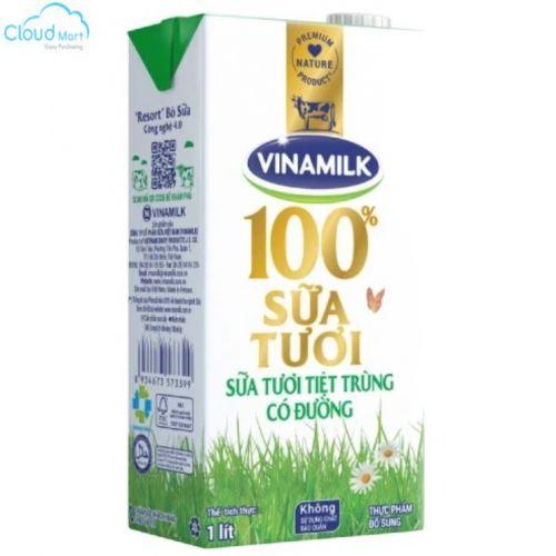 Sữa tươi Vinamilk 1L có đường