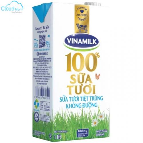 Sữa tươi Vinamilk 1L không đường