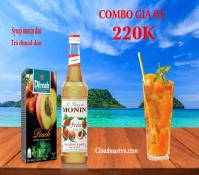 Combo syrup monin đào + Trà đào Dimad
