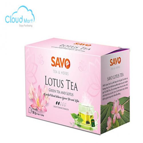 Trà SAVO hương Sen (25 gói *2g)