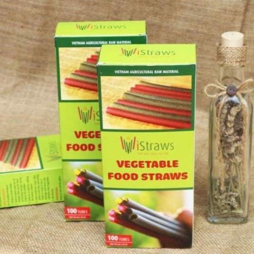 Ống hút V-Vistraws Rau-Củ - Quả 0.5-0.6cm x 22cm (60 ống/hộp)