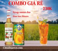 Combo Syrup đào monin + Đào ngâm Hosen